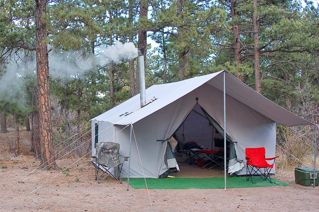 Canvas wall tent 4 basic tent davis tent for How to build a canvas tent frame