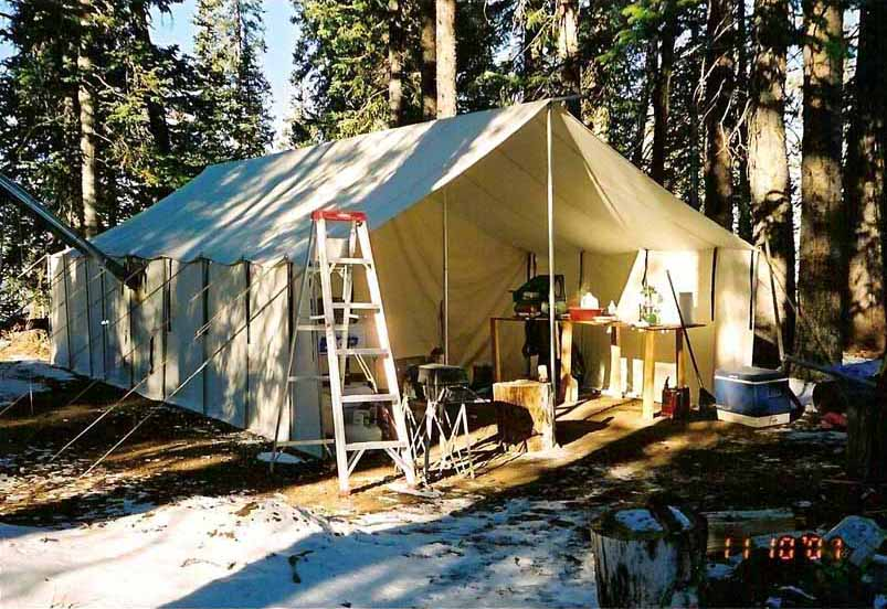 Porches u2013 the roof and walls out in front of the tent & Best Tent For Hunting - Who Makes The Best Canvas Wall Tent