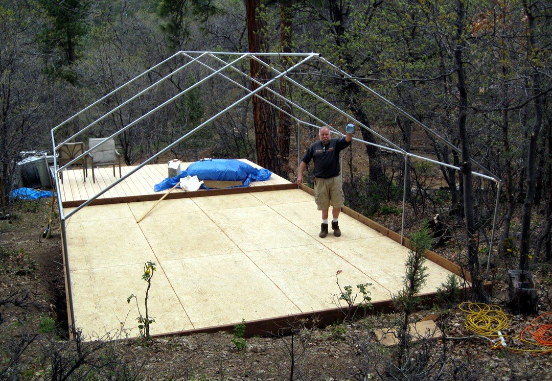 Wall tent frame canvas frame tent davis tent for How to build a canvas tent frame