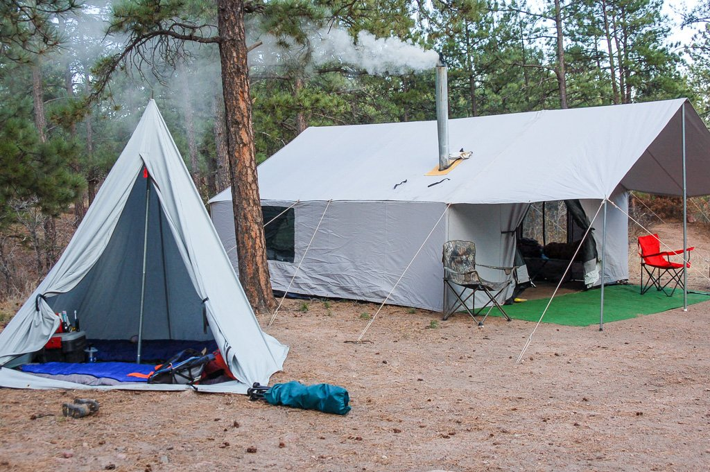 ... and it has served me well in the Summer with the Boy Scouts and in the Winter while hunting for Colorado Elk. I recommend Davis Tent to all my friends! & Canvas Wall Tent - Winter Tents - Davis Tent u0026 Awning