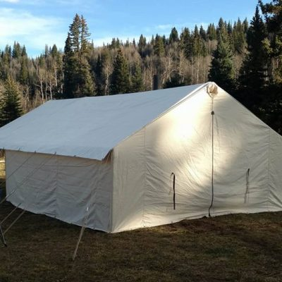 Bison C& Tent Package & Canvas Wall Tent - Winter Tents - Davis Tent u0026 Awning
