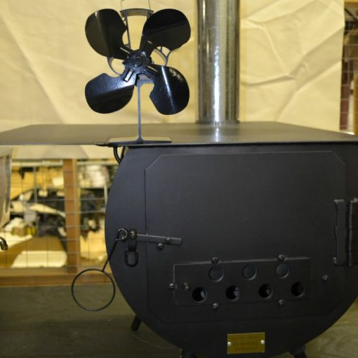 fan on top of stove